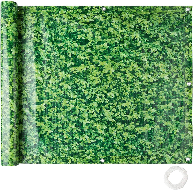 Balcony Privacy Screen Windbreak Panel Fence Wind Protection 0.75 x 6 m cream