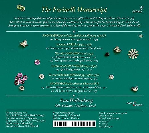 The Farinelli Manuscript - Arias by Latilla, Conforto, Giacomelli & Mele: Ann Hallenberg, Gaetano Latilla: Amazon.es: Música