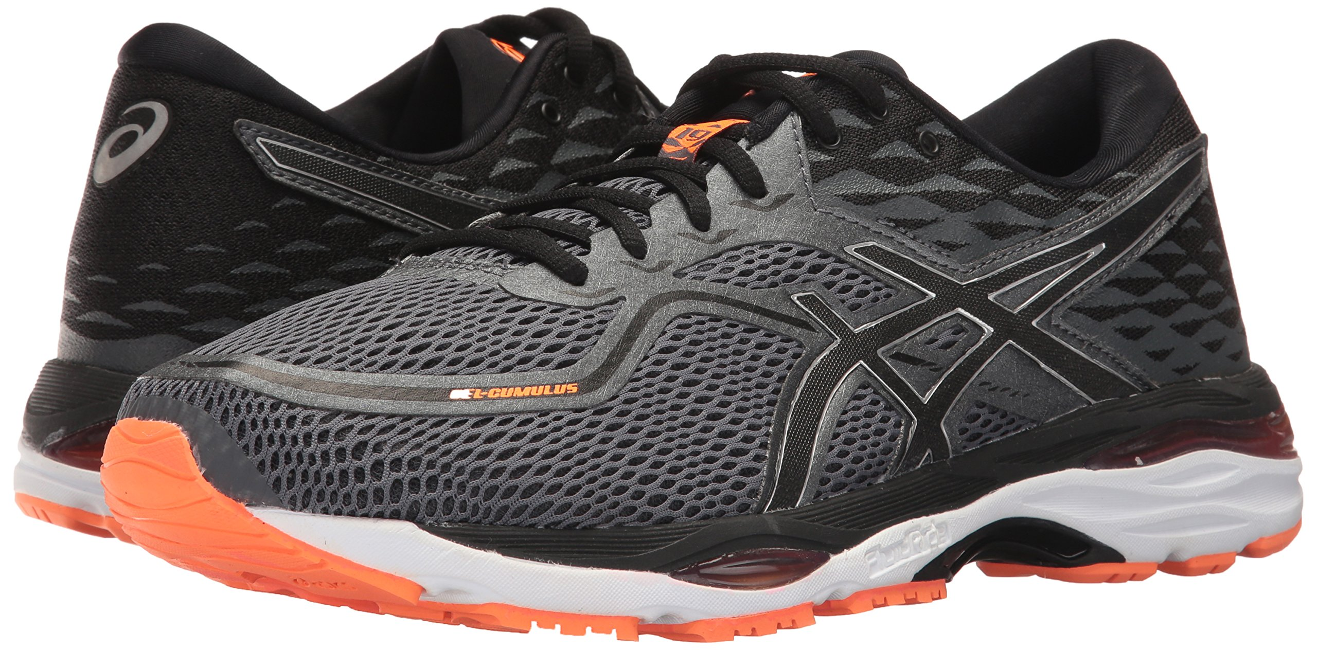 ASICS Mens Gel-Cumulus 19 Running Shoe, Carbon/Black/Hot Orange, 6.5 Medium US by ASICS (Image #6)