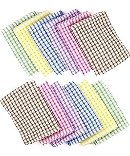 Brinsi 100% Cotton Kitchen Towels (12 Pack), Tea Towels, Bar Towels