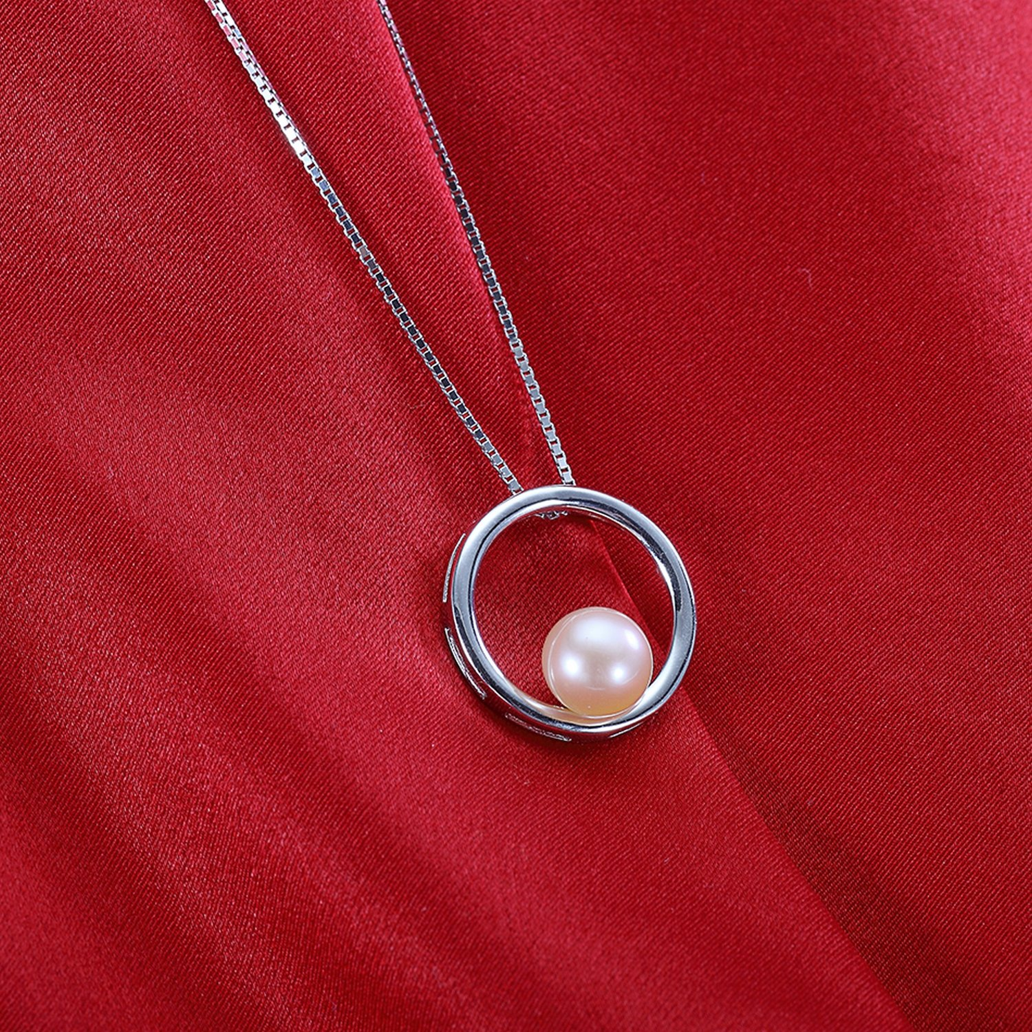 MMC Womens Necklaces Pendants Pink Pearl Jewelry Silver Jewelry