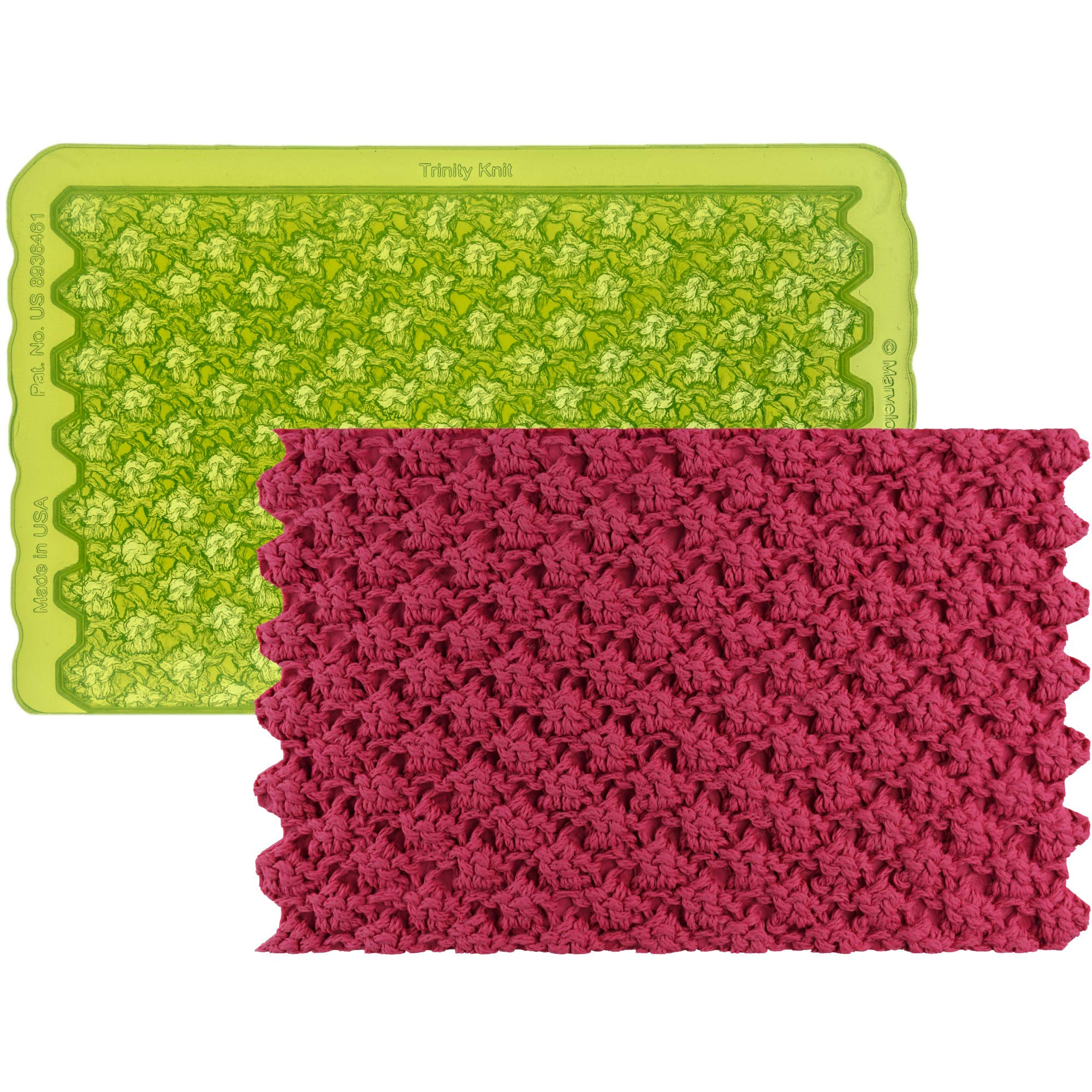 Marvelous Molds Trinity Knit Simpress Silicone Mold | Cake Decorating | Fondant and Gumpaste Icing