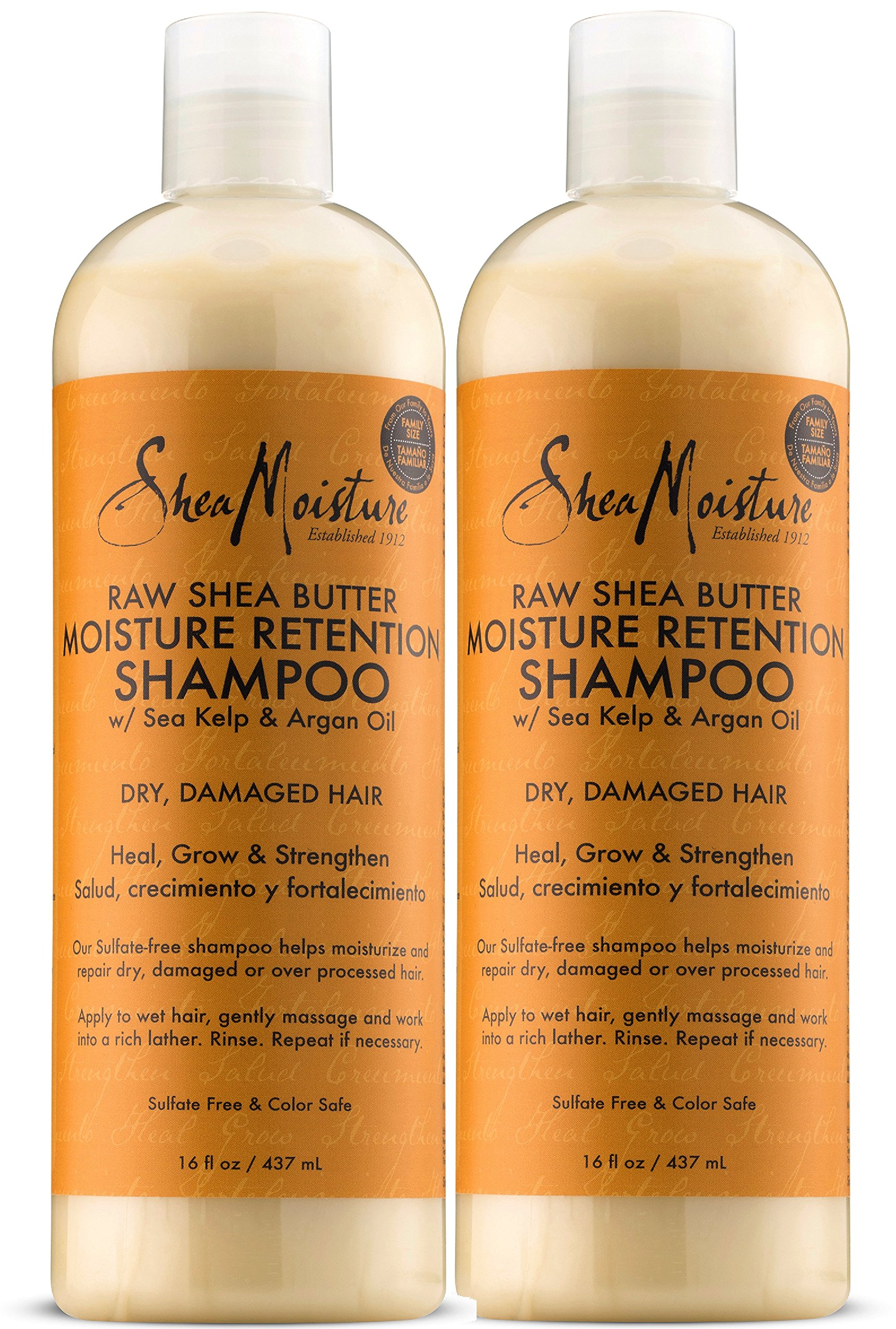 Shea Moisture Raw Shea Butter Moisture Retention Shampoo, 16 Ounce, Pack of 2 by Shea Moisture