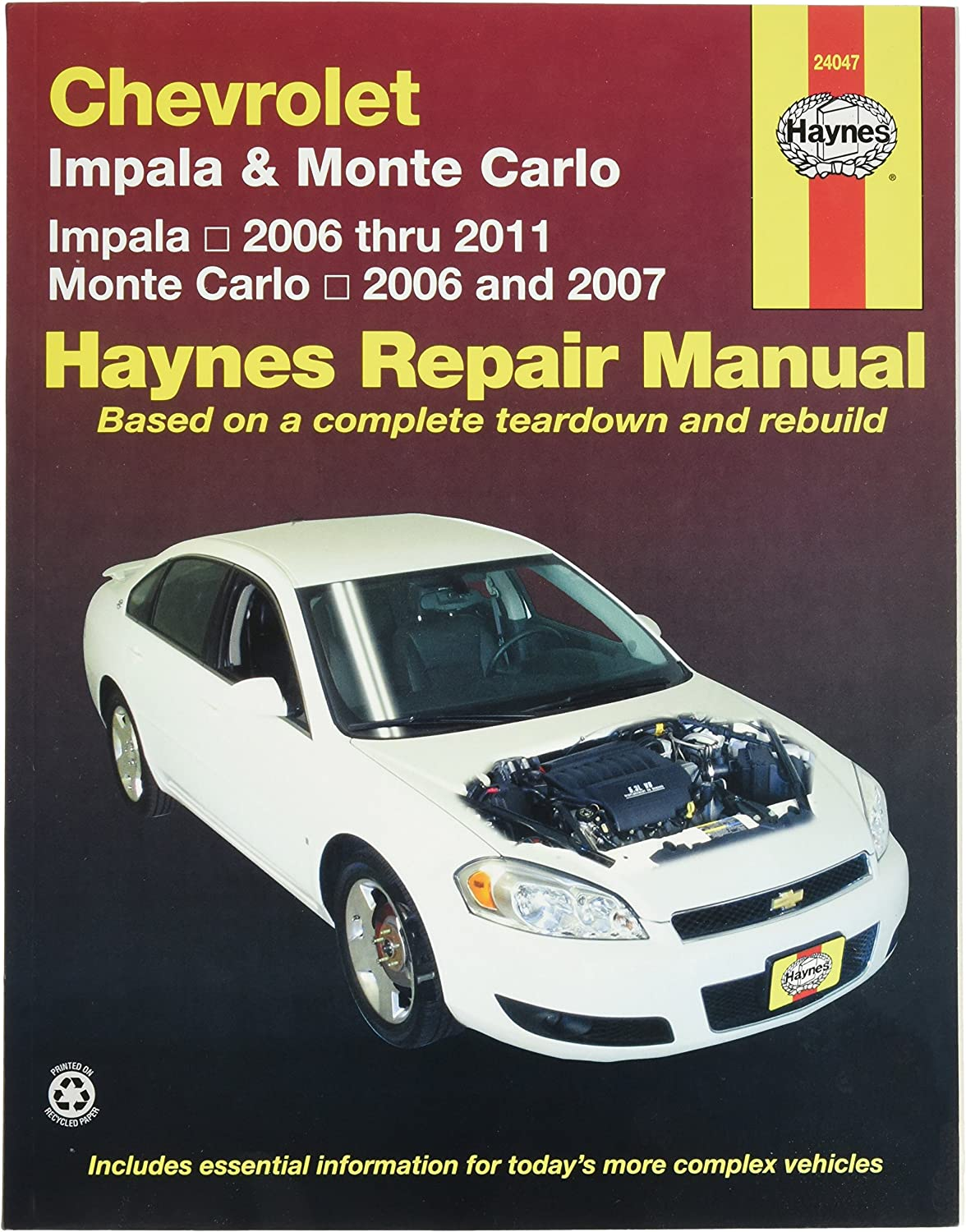 Chevrolet Impala (2006-2011) and Monte Carlo (2006-2007) Haynes Repair Manual