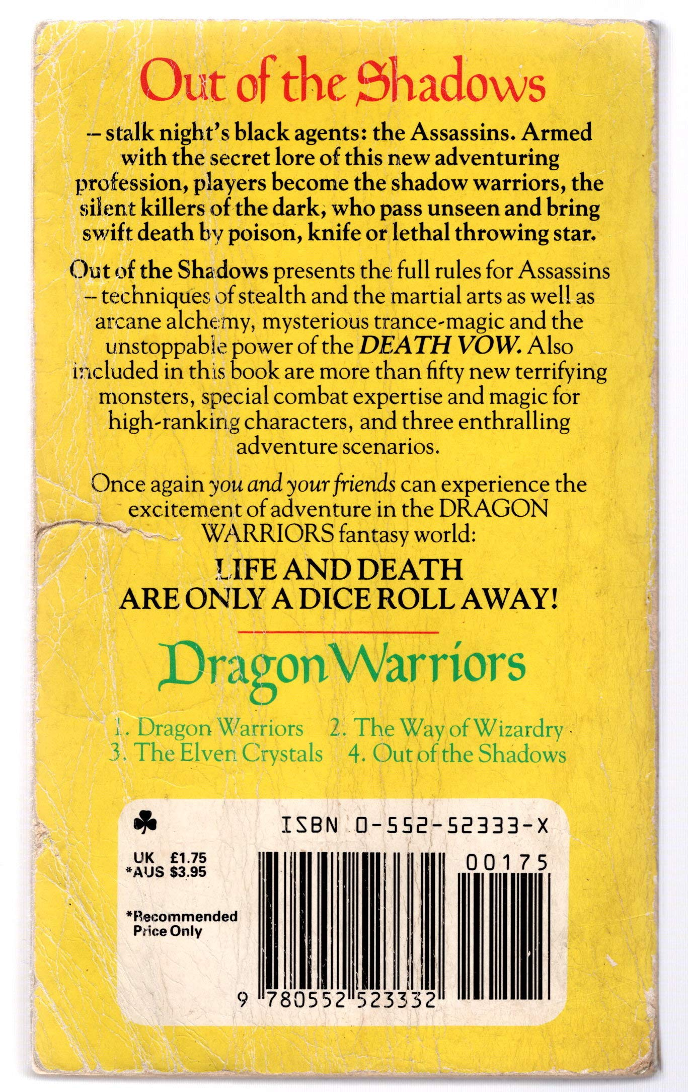 Dragon Warriors: Out of the Shadows No. 4 (Dragon warriors)