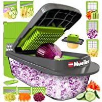 Mueller Austria Pro-Series 8 Blade Egg Slicer, Onion Mincer Chopper, Slicer, Vegetable Chopper, Cutter, Dicer, Vegetable Slicer with Container