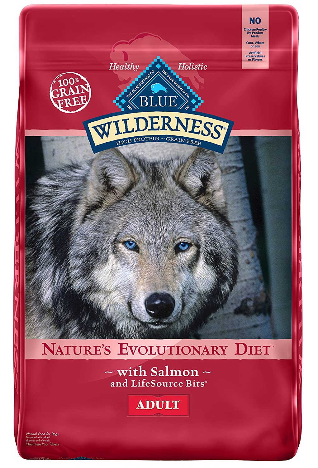 Wilderness Blue Buffalo High Protein Dry Adult Dog Food (Salmon Formula)