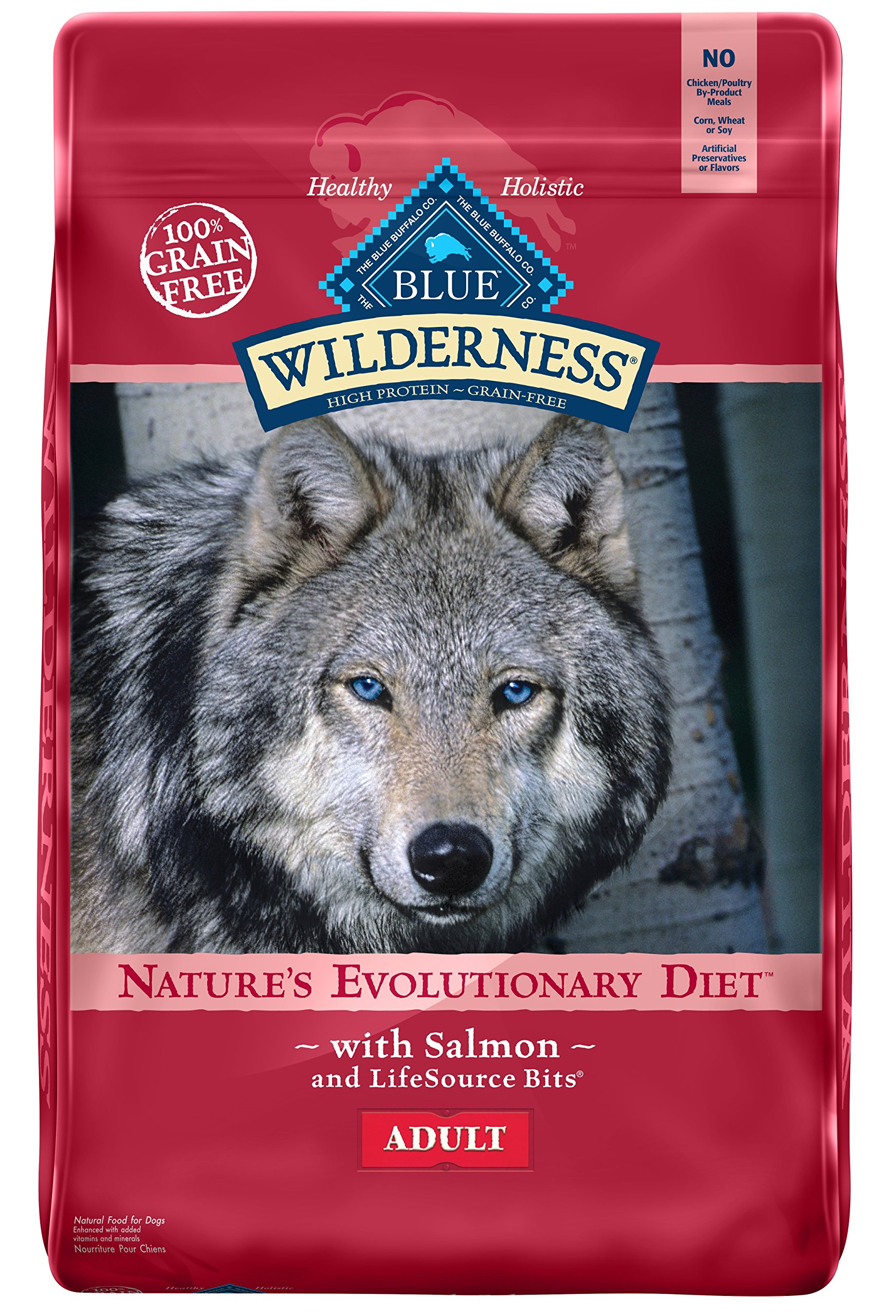 BLUE Wilderness Adult Grain Free Salmon Dry Dog Food 24-lb