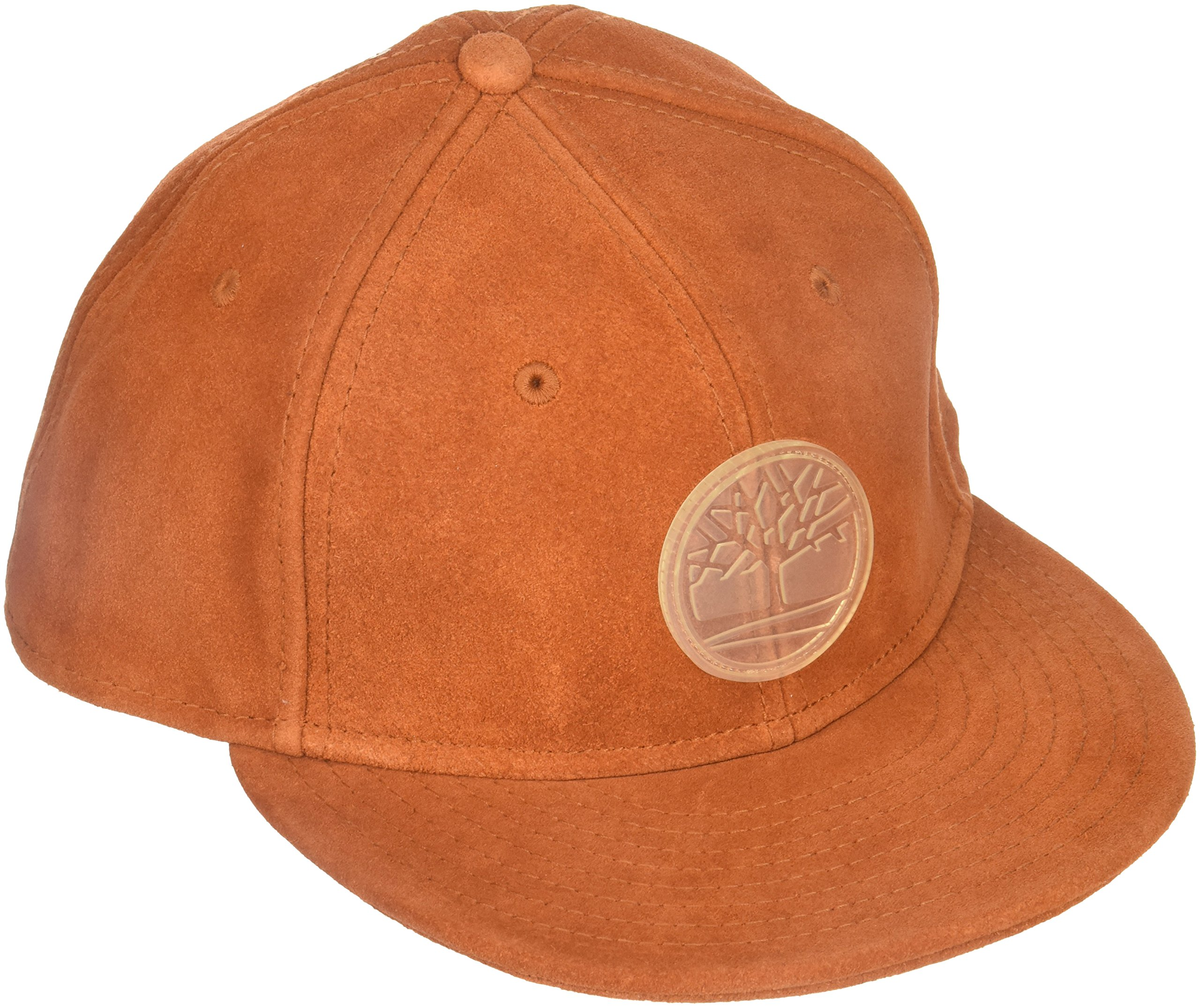 Timberland Men's Suede Flat Brim Hat, Rust, One Size
