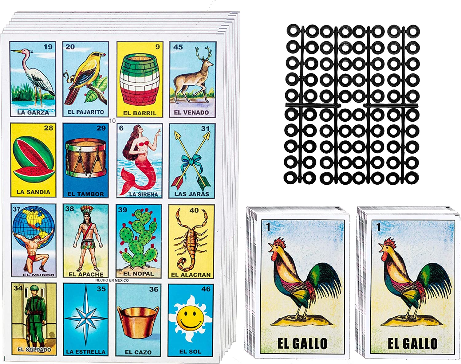 Amazon Com Loteria Mexican Bingo Game Kit Loteria Cards Mexican Bingo Game For 20 Players Includes 2 Deck Of Cards And Boards With Free Markers For The Entire Family