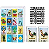 Loteria Mexican Bingo Game Kit - Loteria Cards Mexican Bingo Game for 20 Players - Includes 2 Deck of Cards and Boards - with