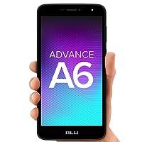 """BLU Advance A6 -Unlocked Dual Sim Smartphone - 6.0"""" HD Display – Black"""