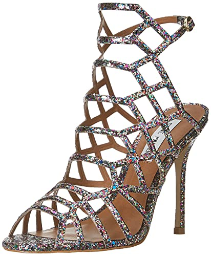 cc2ae17f9b6 Steve Madden Women s Slithur-G Multi Glitter Fashion Sandals - 4 UK India  (36.5 EU)(6 US)  Buy Online at Low Prices in India - Amazon.in