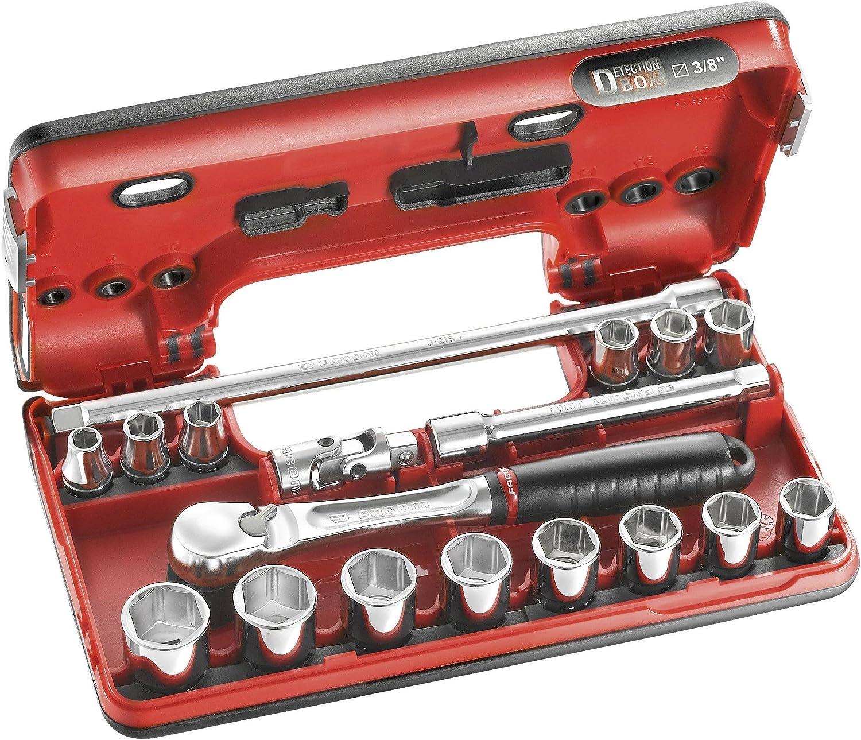 Facom JL. Dbox1 Primetools Compact 3/20, 3 cm Drive 6 point mé trique Jeu de douilles 3cm Drive 6point métrique Jeu de douilles JL.DBOX1