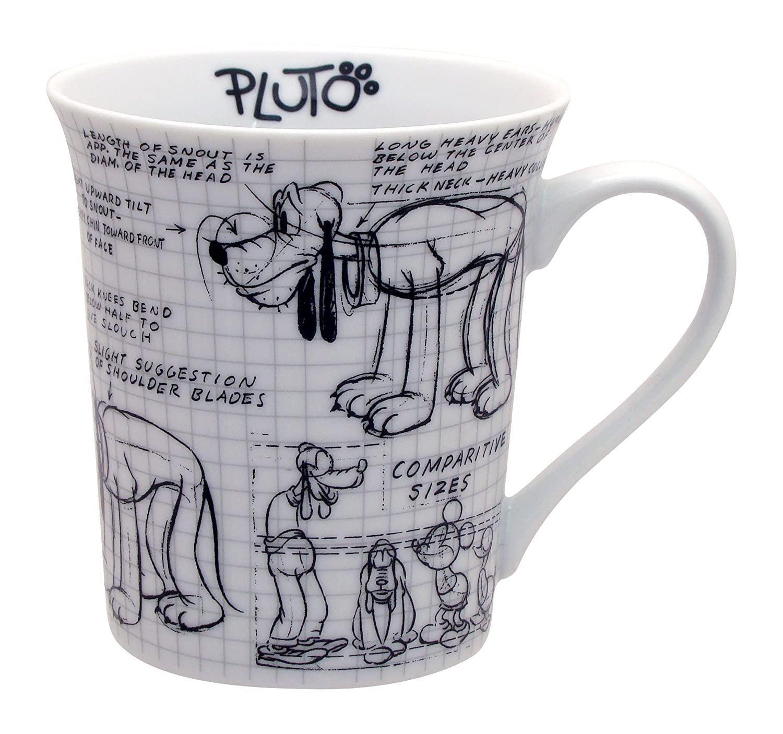 Disney Sketchbook Pluto Mug, Set of 4