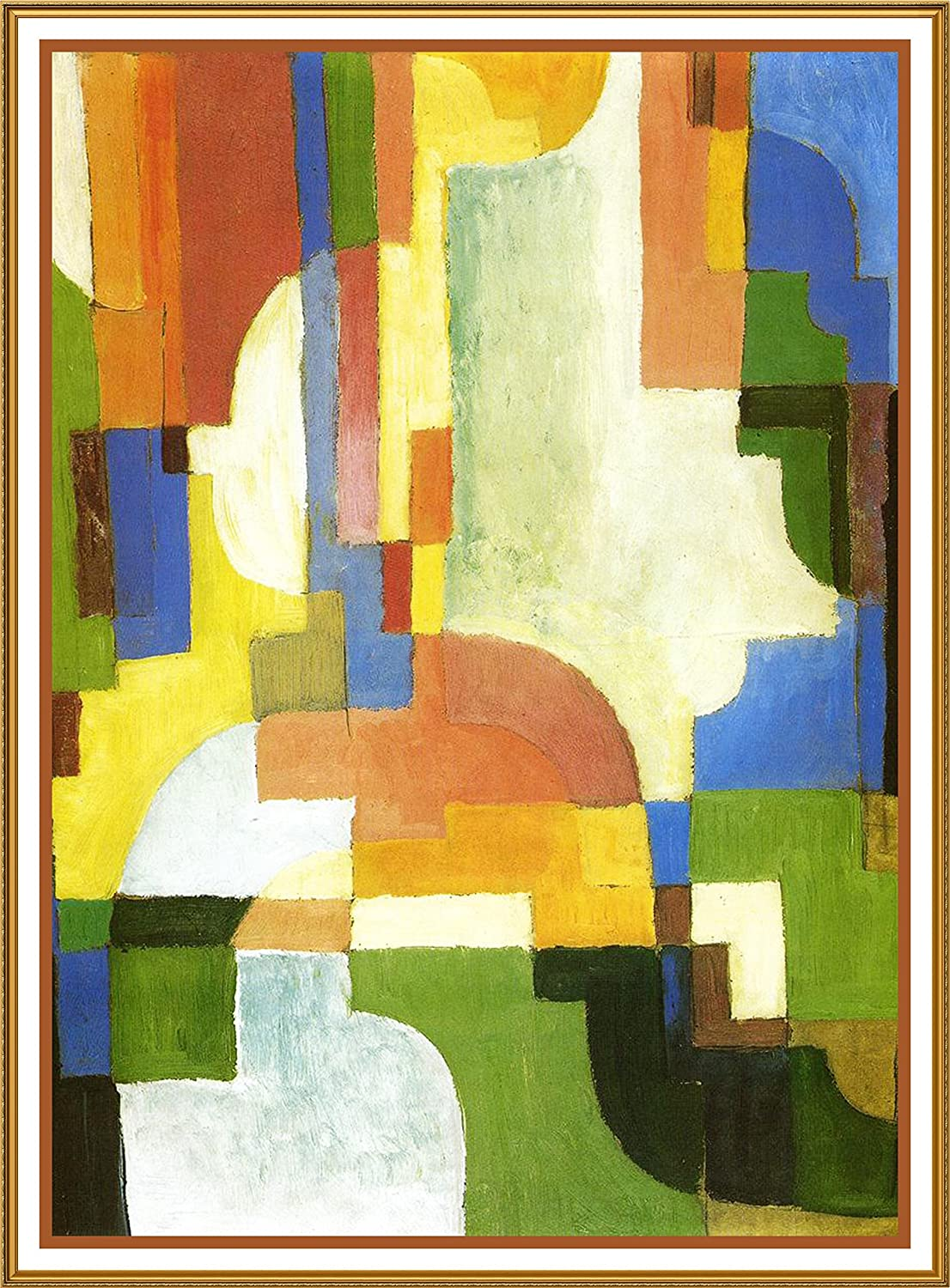 Orenco Originals Colored Forms I Expressionist Artist August Macke Counted Cross Stitch Pattern