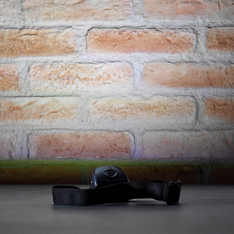 luz de Cabeza de Senderismo para Perro Auraglow Linterna Frontal LED Ajustable con Pilas