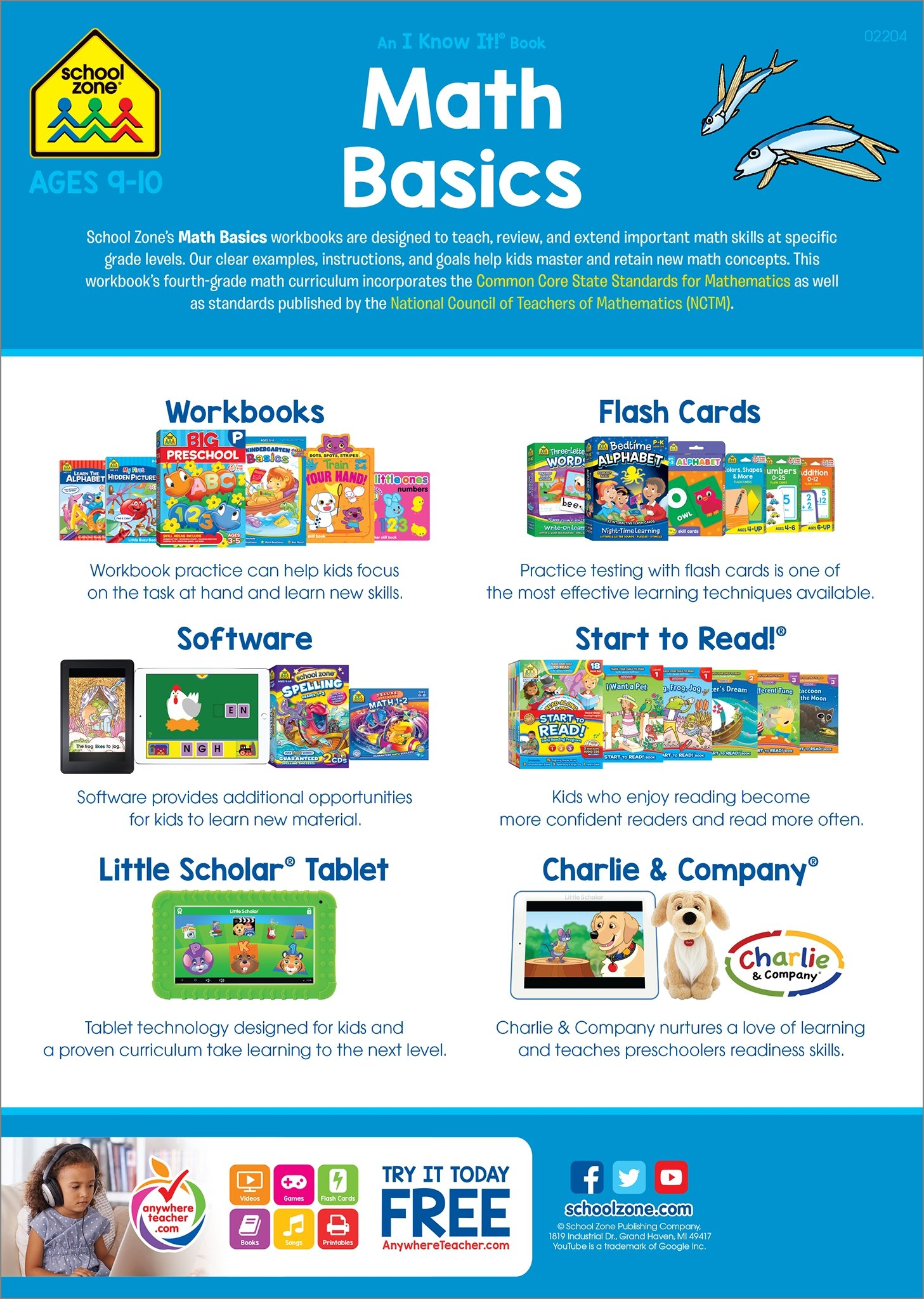 Math Basics 4 Deluxe Edition Workbook (An I Know It! Book): Barbara ...