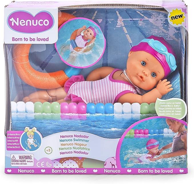 Amazon.es: Nenuco Nadador- Muñeco bebé interactivo (Famosa 700014071): Juguetes y juegos