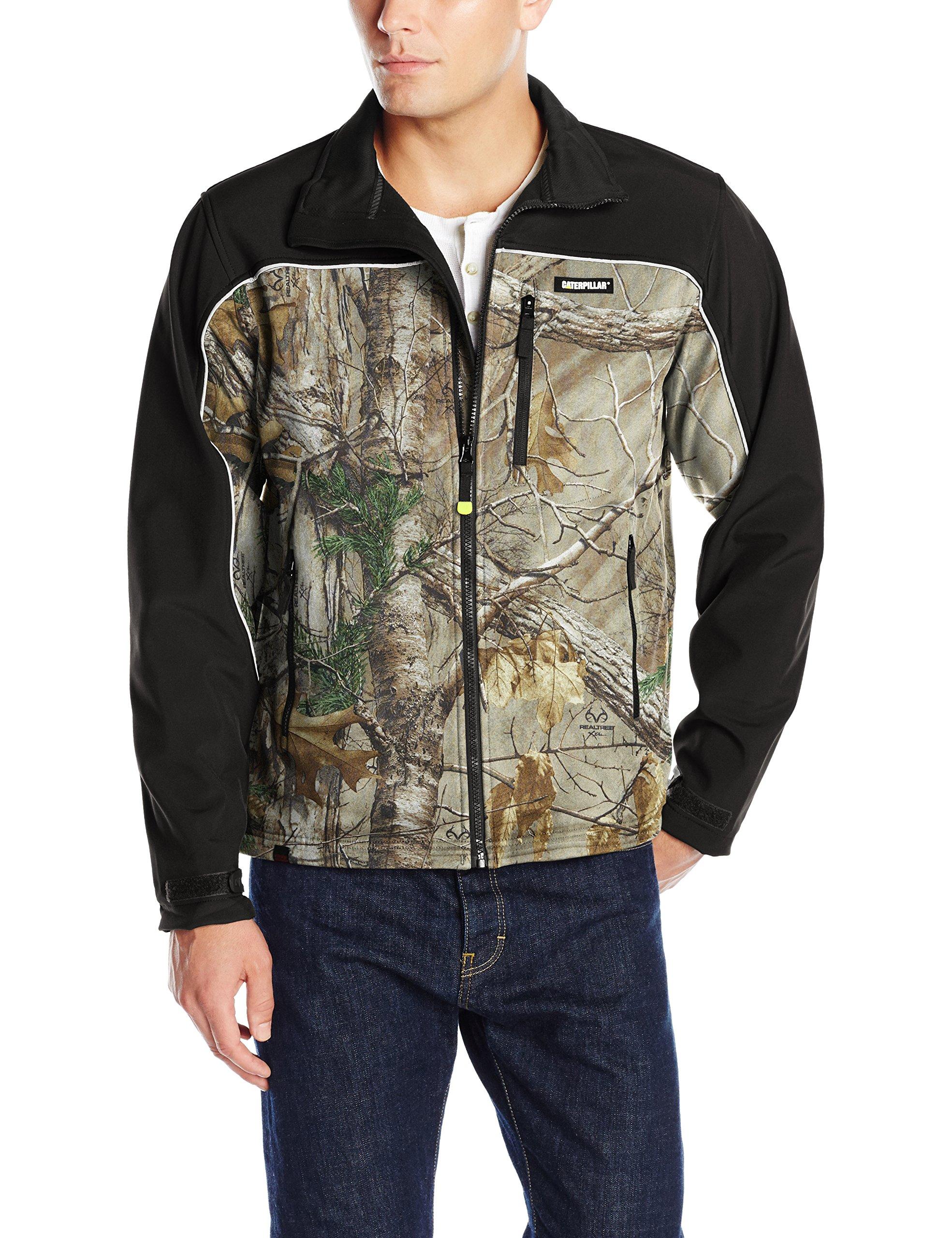 Caterpillar Men's Soft Shell Jacket, Realtree Xtra Camo, Medium