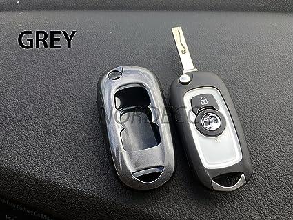 Carcasa protectora para llave de coche Opel, color gris
