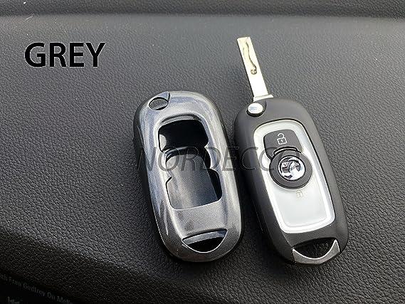 Carcasa protectora para llave de coche Opel, color gris: Amazon.es: Coche y moto