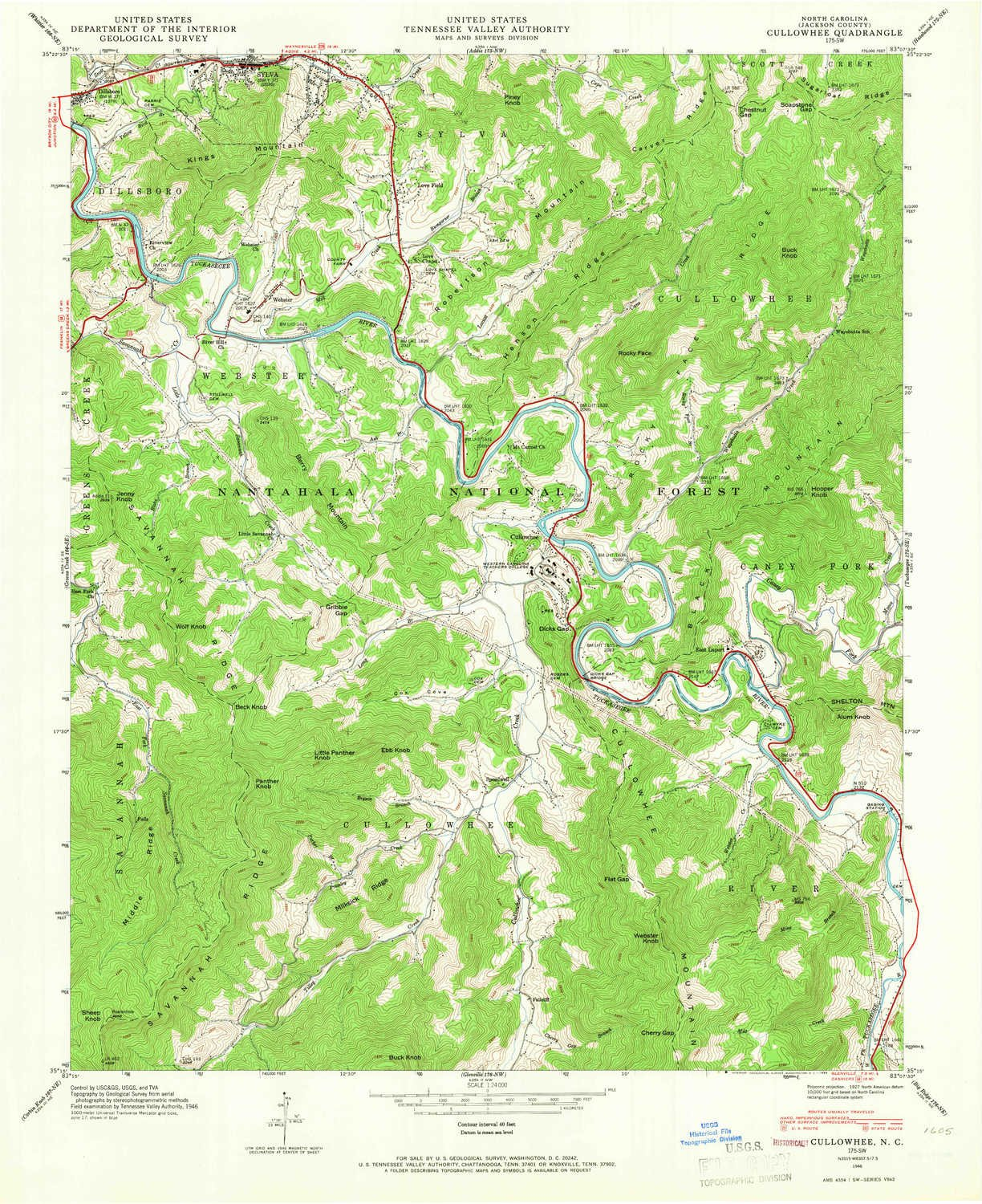 Topography Map Of Us.Amazon Com Cullowhee Nc Topo Map 1 24000 Scale 7 5 X 7 5 Minute