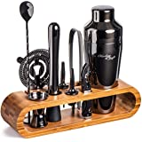 Mixology Bartender Kit: 10-Piece Bar Tool Set with Stylish Bamboo Stand   Perfect Home Bartending Kit and Martini Cocktail Sh