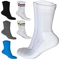 Chaussettes Performance Crew de Tennis, pour hommes et femmes, contrôle de l'humidité, rembourrage doux, 3 ou 1 paires, blanc, noir