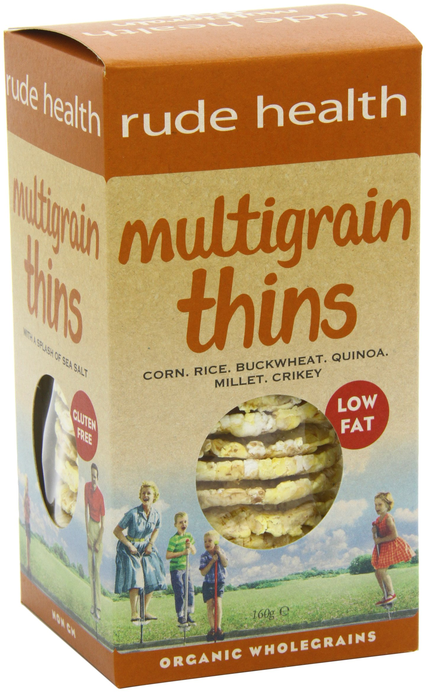 Rude Health Multigrain Thins Organic 160 g (Pack of 5)