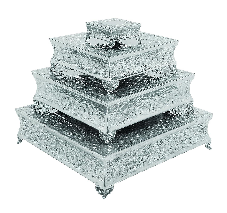 Amazoncom Benzara Aluminum Cake Stand a Dining Area Specific