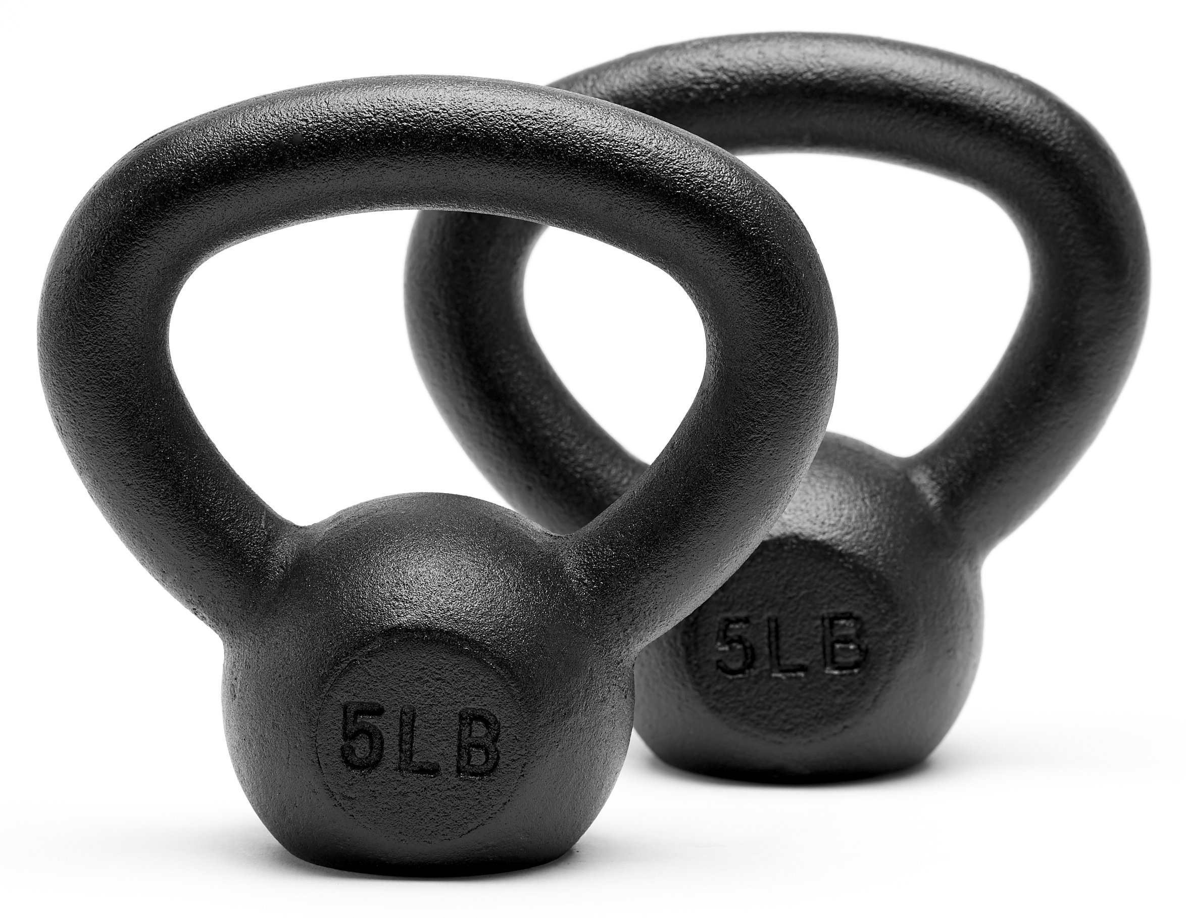 Unipack Powder Coated Solid Cast Iron Kettlebell Weights Set- (5+5 lbs)