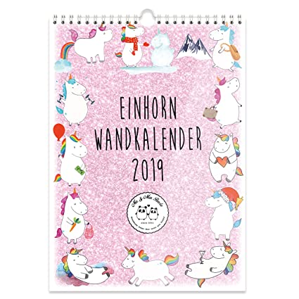 Mr. & Mrs. Panda A4 - Calendario de pared 2019 Unicornio ...