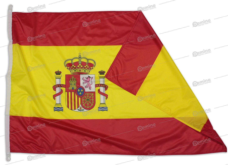 Bandera España 100x70 cm en tela náutico resistente al viento 115g/m², bandera española 100x70 lavable, bandera de Espana 100x70 alta calidad con cordón, doble costura perimetral y cinta de refuerzo: Amazon.es: Jardín