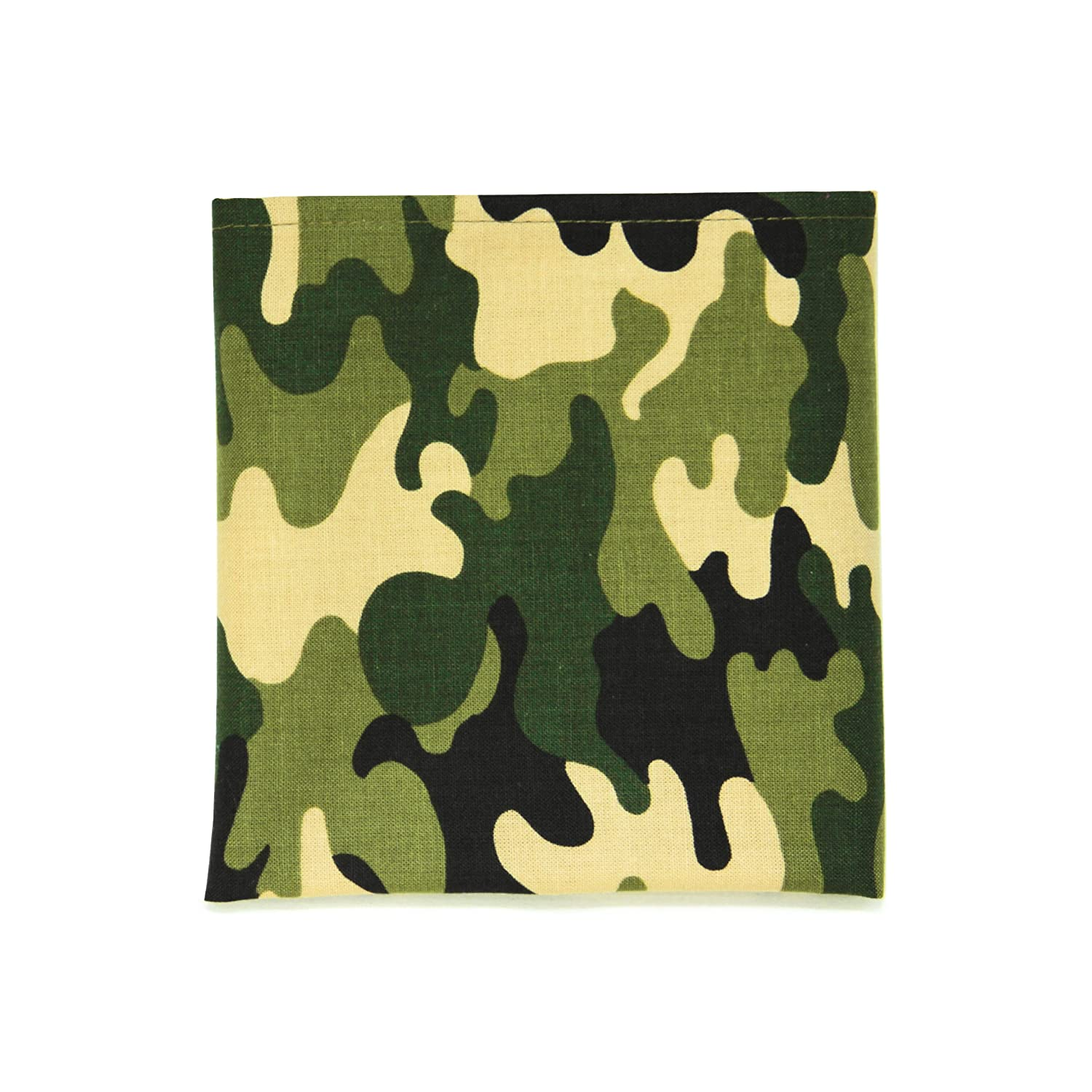 PSC Mens The Black Panther Pocket Square 11 x 11 Green Camo