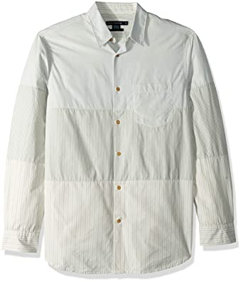 cbf590dd334 Amazon.com: French Connection Men's Patchwork Button Down Shirt: Clothing