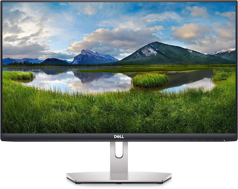 Dell S2421H 24 Inch Full HD (1920x1080) Monitor, 75Hz, IPS, 4ms, AMD FreeSync, Built-in Speakers, Ultrathin Bezel, 2X HDMI,VESA, Silver