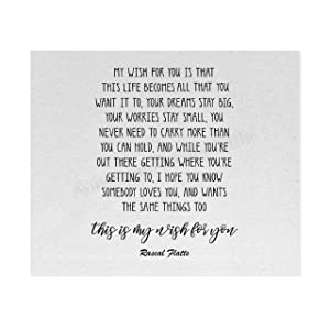 """""""My Wish for You""""-Song Lyric Wall Art-10 x 8"""" Inspirational Poster Print-Ready to Frame. Country Music Lyrics Wall Sign for Home-Office-Study-Dorm Decor. Great Wedding Gift! Perfect for Graduates!"""