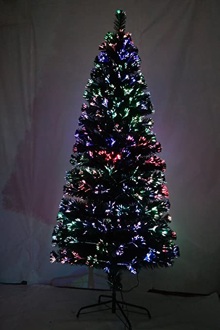 5fa4786f02bc1 Image Unavailable. Image not available for. Colour  GLA 4ft 120cm Green  Fibre Optic Christmas Tree Various Effects Xmas Decoration