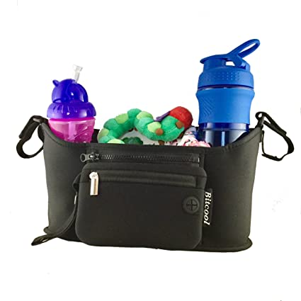 Cochecito – Neopreno de alta calidad – Caddy – Bolsa para Niños o de almacenamiento Organizador para cochecitos de bebé, Cochecito, Buggy y termo con ...