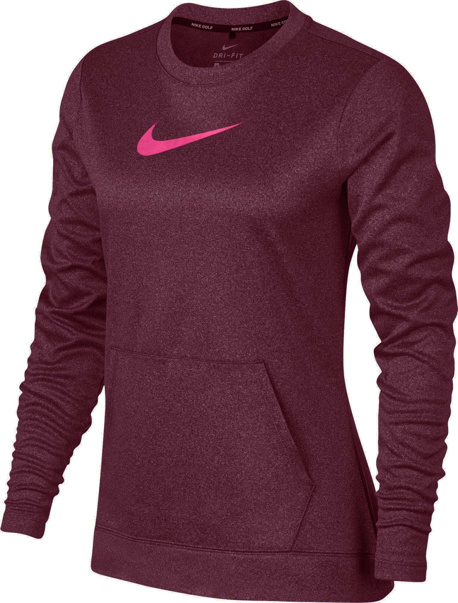 Nike Women's Therma Golf Top (Bordeaux/Hyper Pink, XL)