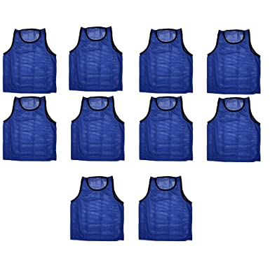 93a99d5e4 Amazon.com: 10 Team Scrimmage Vests Pinnies Soccer Available in Yellow  Green & Blue: Clothing
