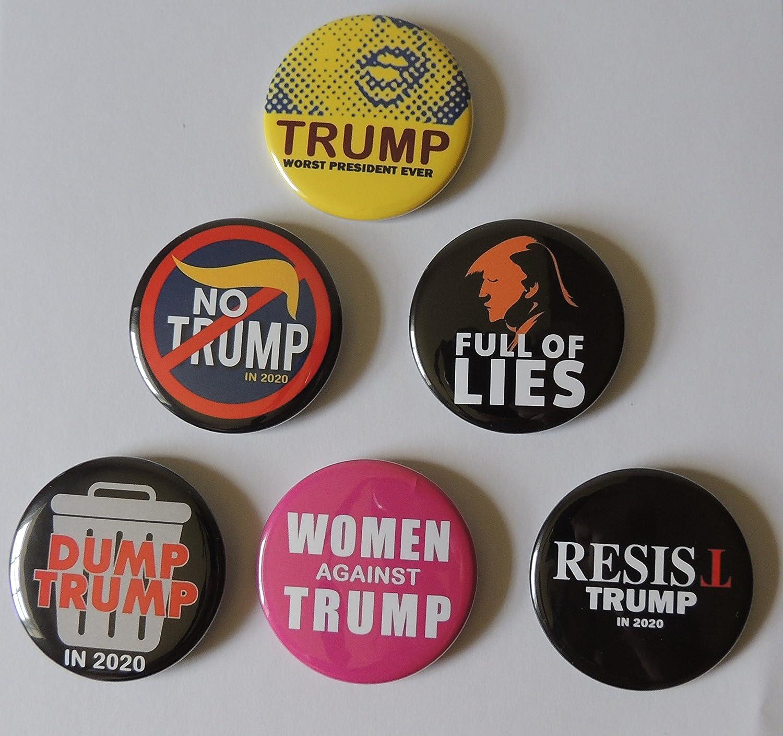 Anti-Donald Trump Set Of 17 Buttons