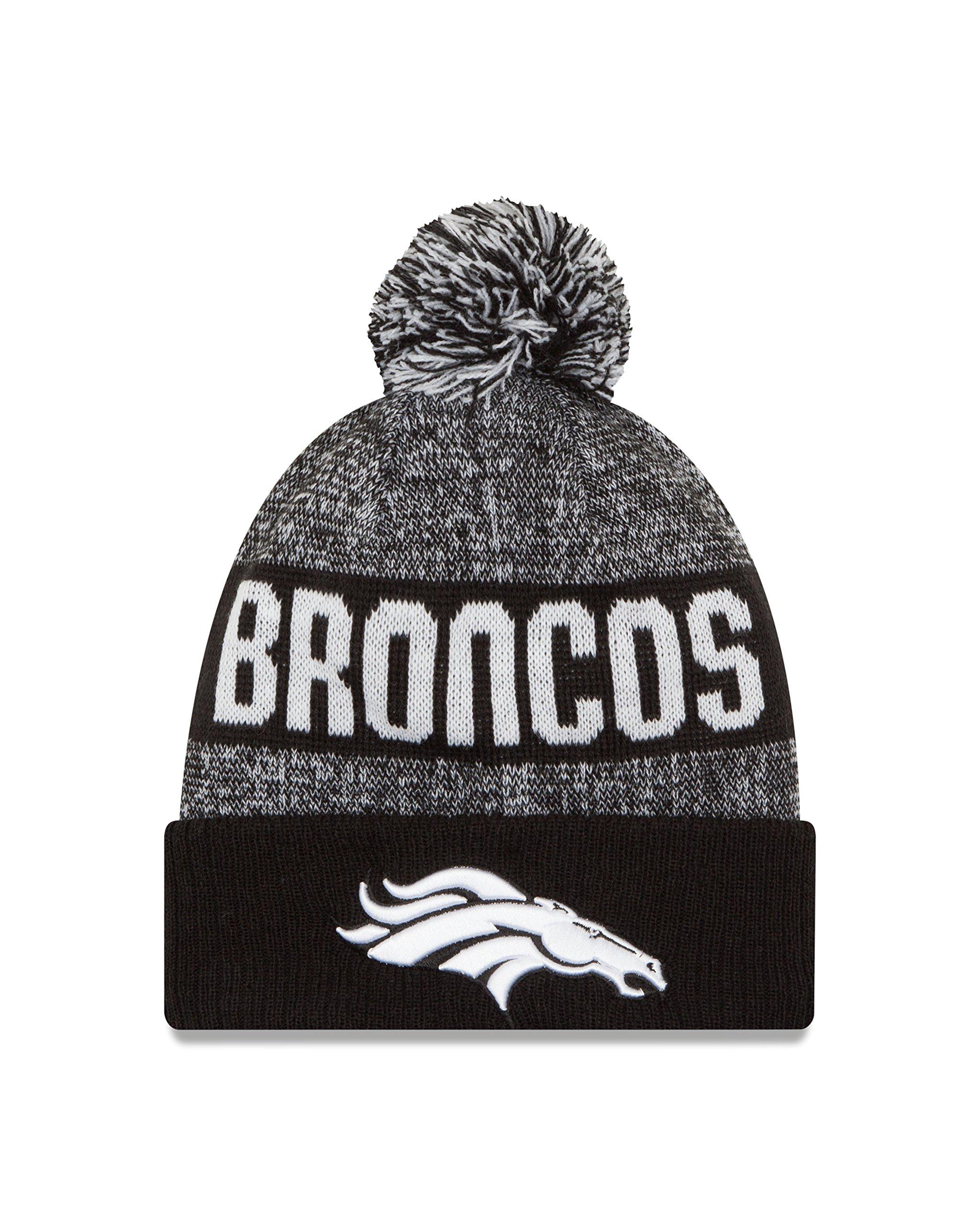 New Era NFL Denver Broncos 2016 Sport Knit Beanie, One Size, Black/White