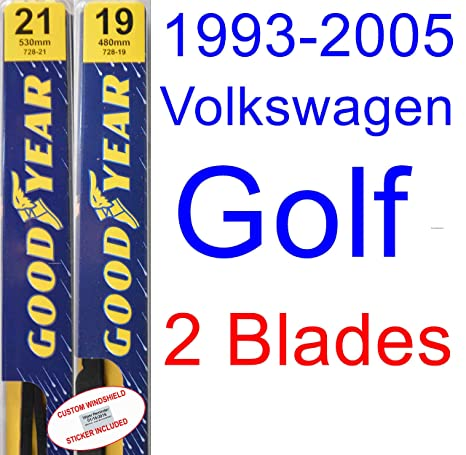 Amazon.com: 1993-2005 Volkswagen Golf Replacement Wiper Blade Set ...