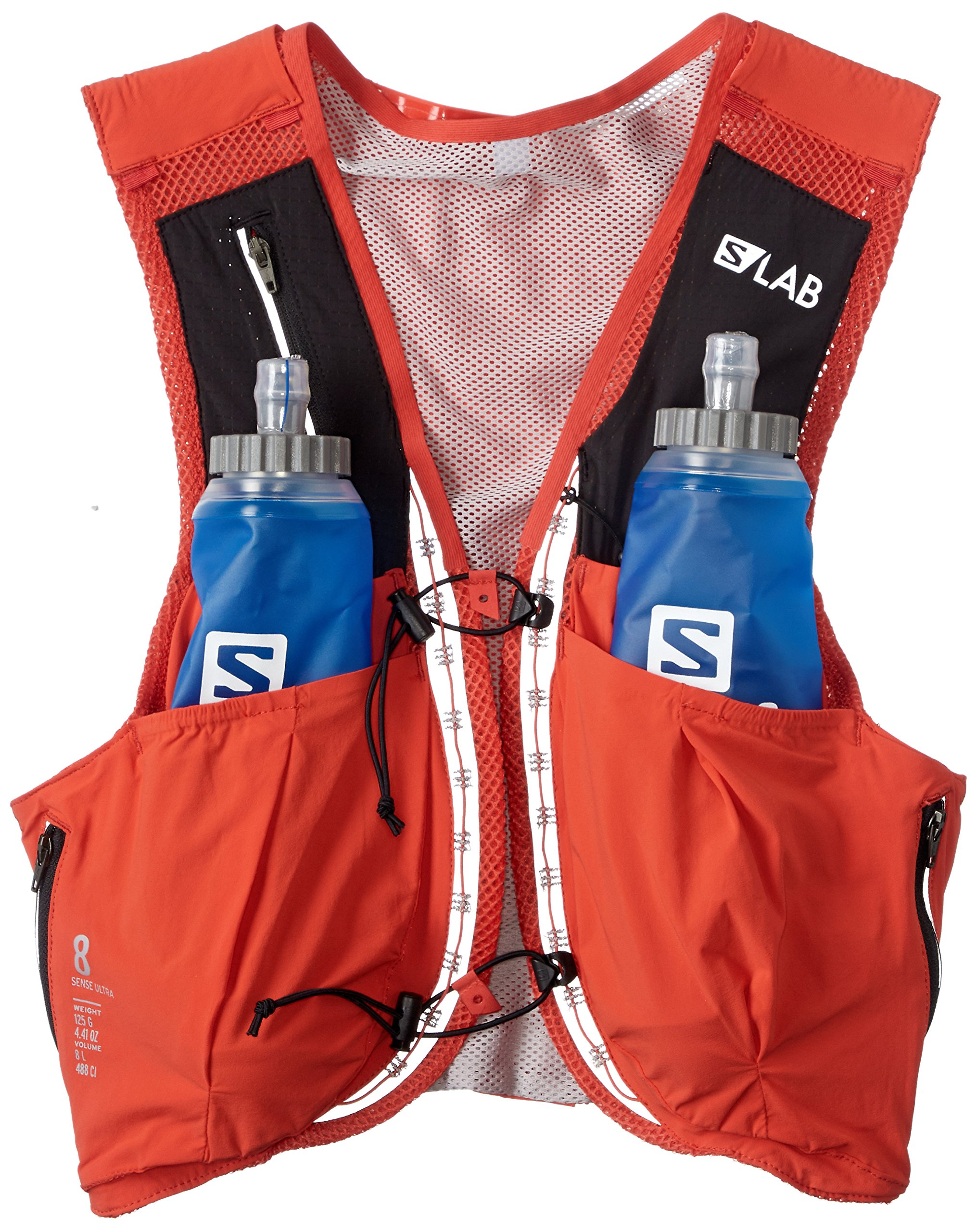 Salomon Unisex S/Lab Sense Ultra 8 Set Hydration Vest, Racing Red, Large by Salomon (Image #1)