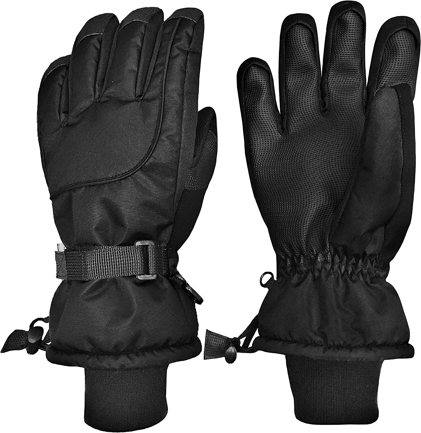 N'Ice Caps Kids Extreme Cold Weather 100 Gram Thinsulate Waterproof Ski Gloves: Clothing