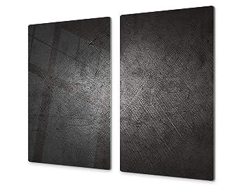 Copri Top Cucina.Concept Crystal Tagliere Da Cucina In Vetro E Copri Piano Cottura A Induzione Pezzo Unico 60x52 Cm O Due Pezzi 30x52 Cm Ognuno D10a Serie
