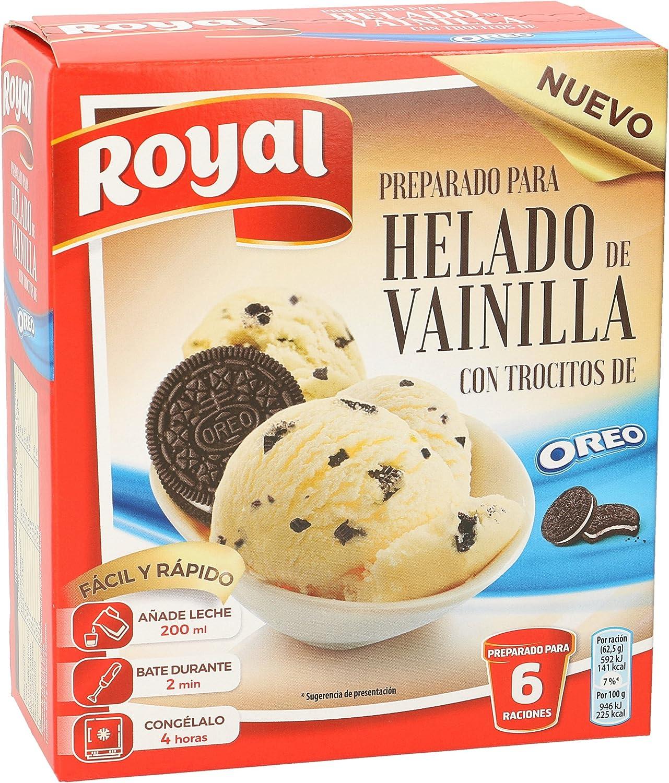 ROYAL preparado para helado de vainilla con trocitos de oreo ...