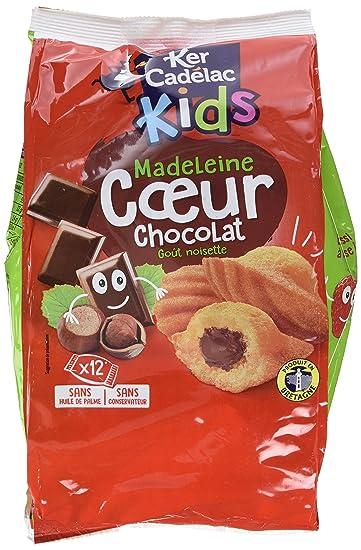 KER CADELAC Sachet de 12 Madeleines Cœur Chocolat 35 g - Lot de 3 ... 2ca03c1607e
